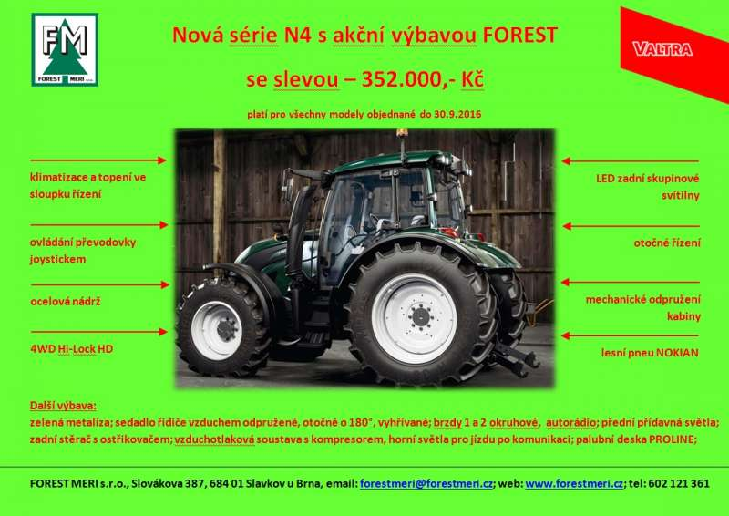 Valtra N4 akce FOREST
